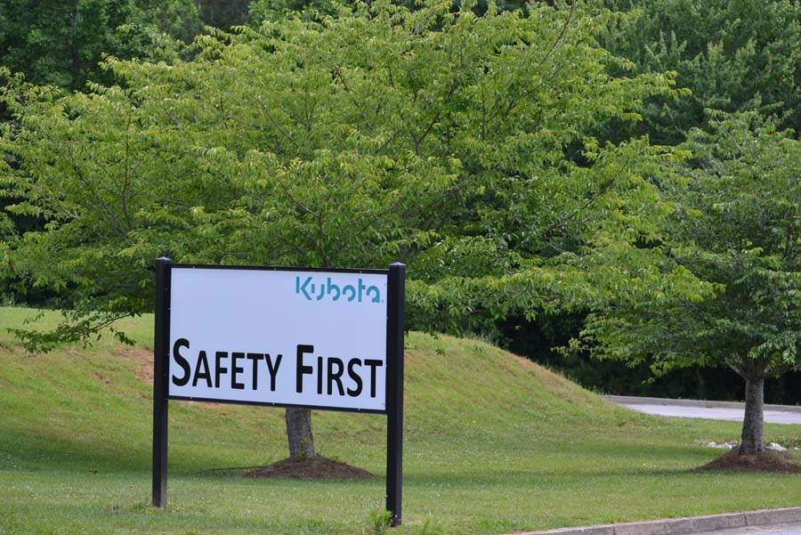 Safety is our number one priority here at Kubota.